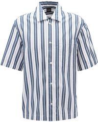 BOSS - Boss Ned Striped Regular Fit Button - Down Shirt - Lyst