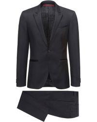 HUGO - Extra-slim-fit Tuxedo Suit In Virgin Wool - Lyst