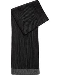 BOSS - Knitted Scarf In Two-tone Virgin Wool - Lyst