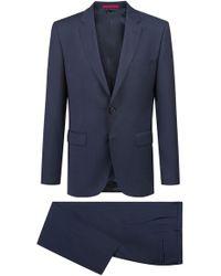 HUGO - Regular-fit Suit In Pinstripe Virgin Wool Serge - Lyst