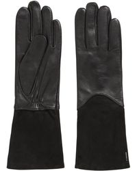 BOSS - Longer-length Lambskin Gloves With Touch Tech Tips - Lyst