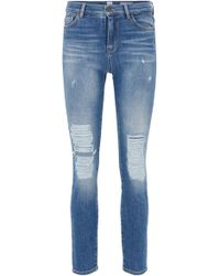 BOSS - Slim-fit Cropped Jeans With Heavily Destroyed Effects - Lyst
