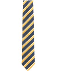 BOSS - Striped Italian Silk Repp Tie - Lyst