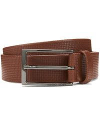 BOSS - Basketweave-emed Leather Belt | Clauxy - Lyst