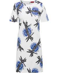 HUGO - Printed Dress | Kones - Lyst