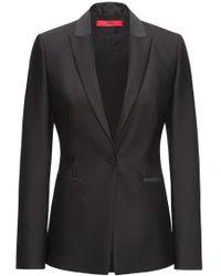 HUGO - Cotton Wool Blazer | Alova - Lyst