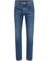 Relaxed-fit jeans in stretch cross-weave denim BOSS IDIR1VqK