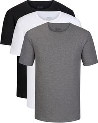 BOSS - Cotton Jersey T-shirt, 3-pack | T-shirt Rn - Lyst