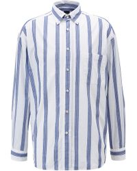 BOSS - Relaxed-fit Shirt With Fil Coupé Stripes - Lyst