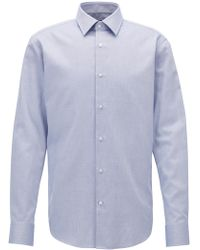 BOSS | Regular-fit Formal Shirt In Structured Cotton | Lyst