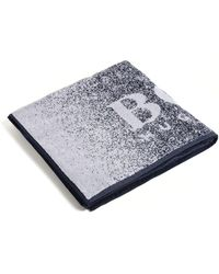 BOSS - Cotton Terry Beach Towel With Logo - Lyst