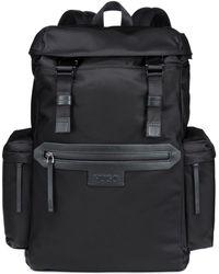 HUGO - Backpack In Nylon Gabardine With Leather Trims - Lyst