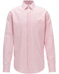 BOSS | Regular-fit Striped Shirt In Oxford Cotton | Lyst