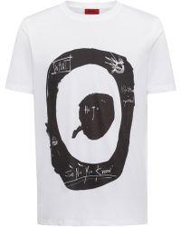 HUGO - Target Graphic Print T-shirt | Dashy - Lyst