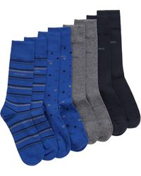 BOSS - Four-pack Of Socks In Metal Gift Box - Lyst