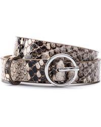 HUGO - Snakeskin-effect Belt In Calf Leather - Lyst