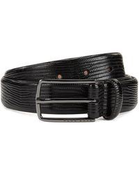 BOSS - Calf-leather Belt With Emed Lizard Print - Lyst