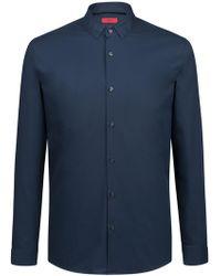 HUGO - Extra-slim-fit Cotton Shirt With Easy-iron Finishing - Lyst