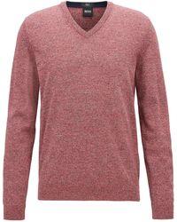 BOSS - Cotton V-neck Sweater | Fabbert D - Lyst