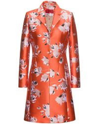 HUGO - Abstract-floral Coat In A Technical Jacquard - Lyst