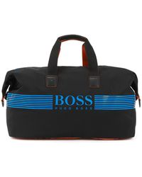 BOSS - Holdall With Rubberised Logo And Zipped Shoe Compartment - Lyst