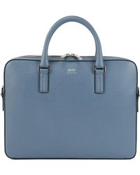 3d9e15fb9b BOSS - Signature Collection Document Case In Printed Palmellato Leather -  Lyst