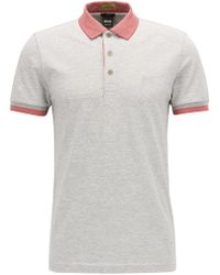 BOSS - Stretch Cotton Polo Shirt, Slim Fit | Paule - Lyst