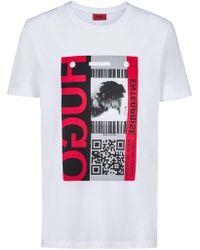 HUGO - By Boss Didentity T Shirt White - Lyst