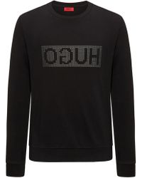 HUGO - Reverse-logo Jumper In Interlock Cotton - Lyst
