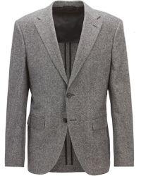 BOSS - Regular/classic-fit Tweed Blazer - Lyst