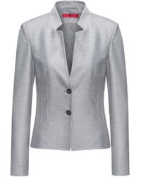HUGO - Regular-fit Jacket With Modern Collar And Corset Detail - Lyst