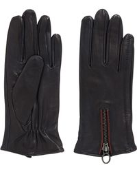 BOSS Orange - Leather Gloves With Zip Detail - Lyst