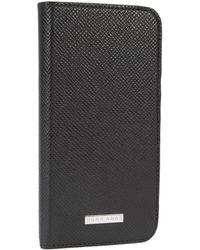BOSS - Calfskin Emed Iphone 7 Phone Case | Signature Phone Flap - Lyst