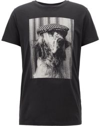 BOSS - Crew-neck T-shirt In Pima Cotton With Photo Print - Lyst