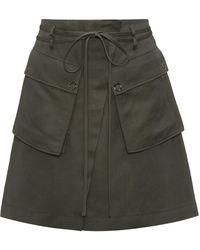 HUGO - High-waisted Mini Skirt With Cargo Pockets - Lyst