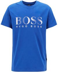 BOSS - Relaxed-fit Cotton T-shirt With Uv Protection - Lyst