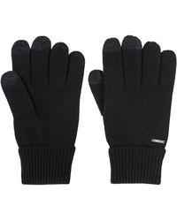 HUGO - Wool-blend Gloves With Touchscreen-friendly Fingertips - Lyst