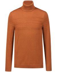 HUGO - Slim-fit Turtleneck Jumper In A Wool-cotton Blend - Lyst