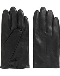 BOSS - Lightweight Leather Gloves With Wool-blend Lining - Lyst