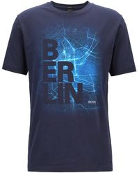 BOSS - Limited Edition Formula E T-shirt With Berlin City Print - Lyst