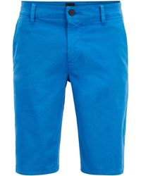 d069dcb5d BOSS 'riceshort3-d' Slim Fit Tailored Shorts Navy in Blue for Men - Lyst