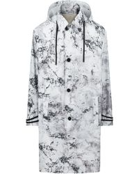 HUGO - Relaxed-fit Patterned Coat With Detachable Faux-shearling Lining - Lyst