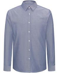 HUGO - Herringbone Dress Shirt, Extra Slim Fit | Elisha - Lyst