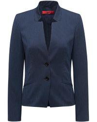 HUGO - Regular-fit Blazer In Pinstripe Stretch Fabric - Lyst