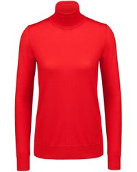 HUGO - Turtle-neck Sweater In Merino Wool - Lyst