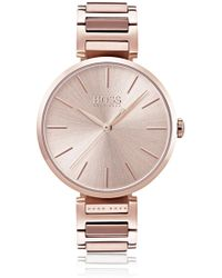 BOSS - Link-bracelet Watch With Tonal Dial - Lyst