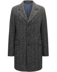 BOSS Orange - Herringbone Coat In A Slim Fit - Lyst