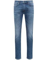 HUGO - Skinny-fit Jeans In Washed Stretch Denim - Lyst