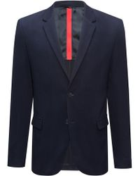 HUGO - Slim-fit Tailored Jacket With Reverse Lapels - Lyst