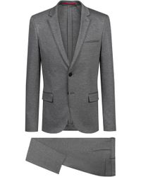 b9c2a610 HUGO 'adris/heibo' | Extra Slim Fit, Textured Virgin Wool Suit in ...